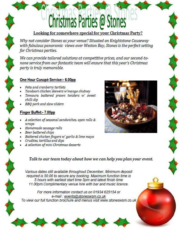 Christmas Party Venue Weston-super-Mare