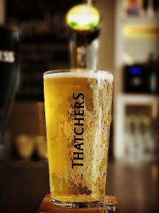 Thatchers Cider Served