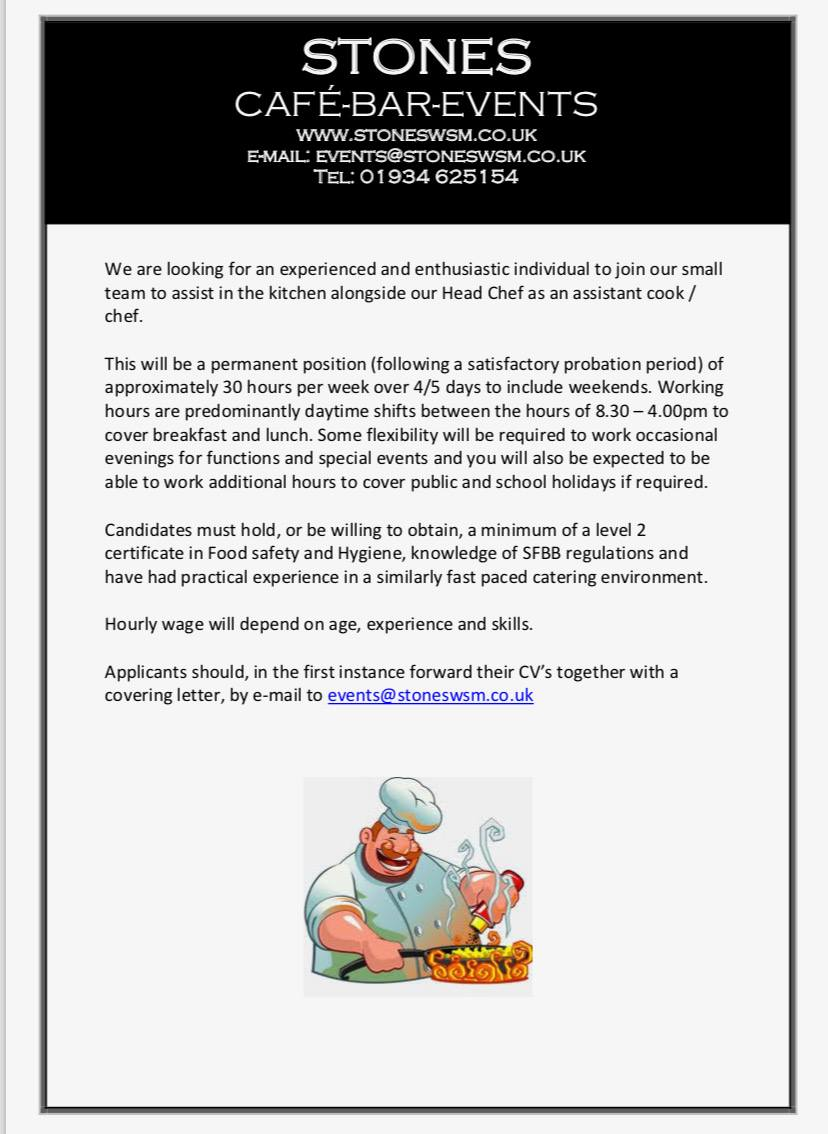 Job Vacancy Chef – Weston super Mare