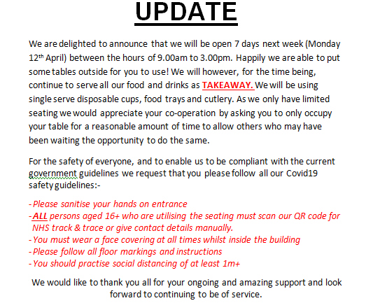 Opening Update